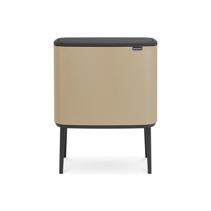 Мусорный бак Touch Bin Bo (36 л), Минерально-золотой, арт. 316241 - фото 1