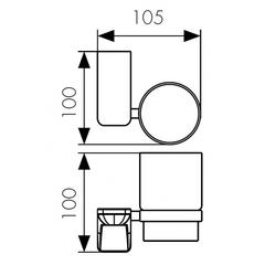 Стакан с настенным креплением KAISER Glory KH-1505 схема