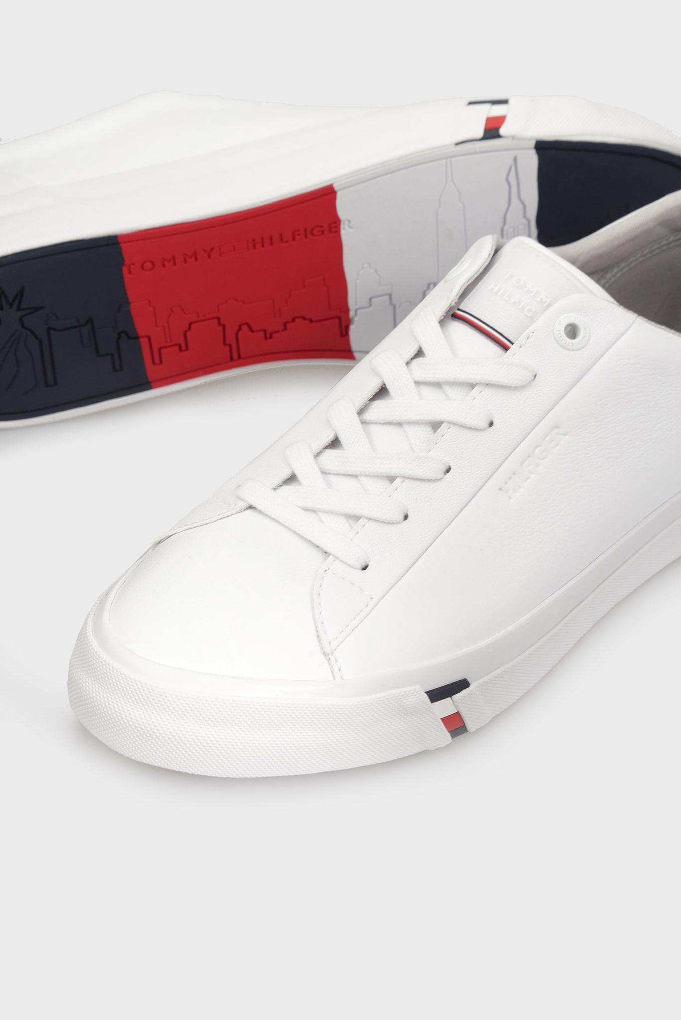 Мужские белые кожаные сникеры CORPORATE LEATHER Tommy Hilfiger