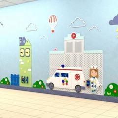 Декоративно-развивающая панель «Поликлиника»