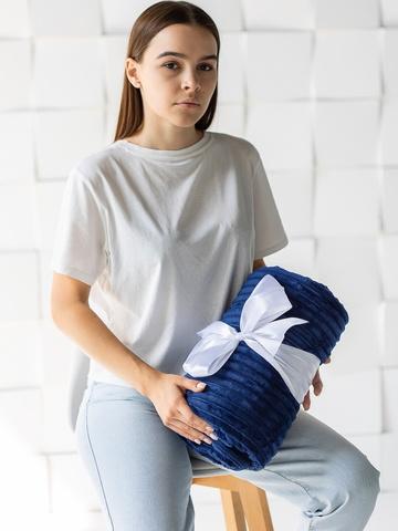 Плед с рукавами Gekoko Premium «Синий» рифленый 4