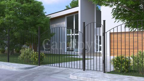 Ворота с забором