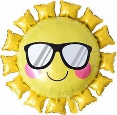 К Фигура, Солнце в солнечных очках, Желтый, 31''/79см.