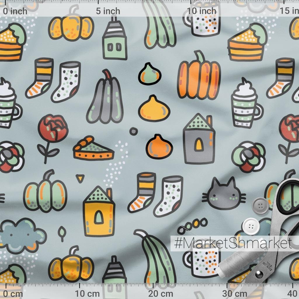 Осенний про уют. Тыквы, телые носки, какао, пирог - что еще надо?