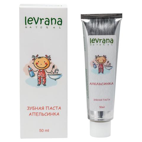 Levrana, Зубная паста гелевая детская Апельсинка, 50мл