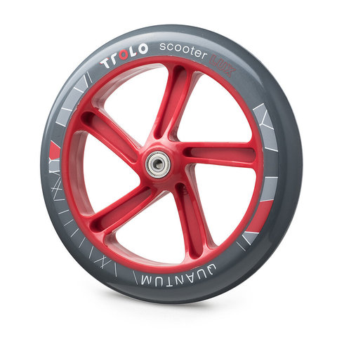 колесо 230 мм для Trolo Lux Quantum серо-красное
