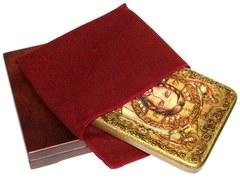 Инкрустированная икона Спас Нерукотворный 20х15см на натуральном дереве в подарочной коробке