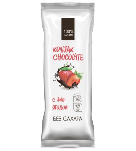 Konjak Chocolate Шоколад без сахара Клубничный
