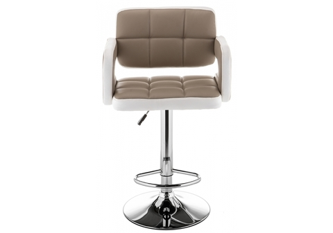 Барный стул Bent бежевый / белый