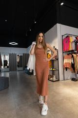 Платье-комбинация с рубашкой сверху недорого