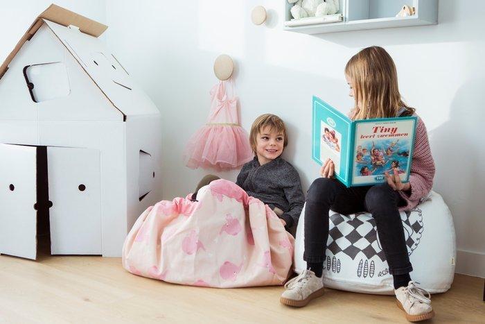 Коврик-мешок для игрушек Play&Go. Коллекция Designer. Розовый слон
