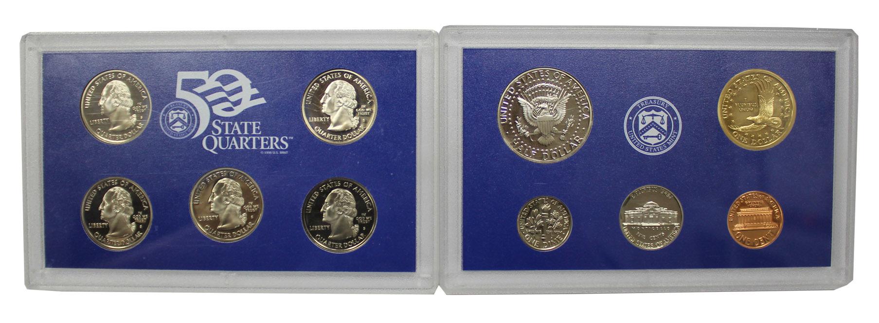 Набор США 2000 (5 годовых монет + 5 памятных 25 центов) Двор S. PROOF