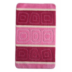 Коврик для ванной BANYOLIN SILVER 60х100 см ворс, розовый
