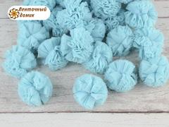 Помпоны из фатина светло-голубые 23 мм