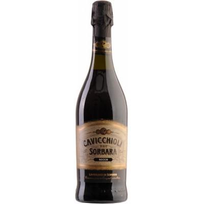Вино игристое Кавиккьоли Ламбруско Амабиле красное полусладкое 0,75л