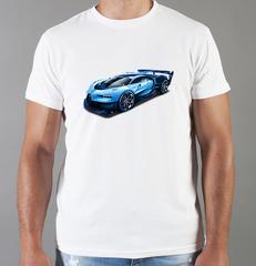 Футболка с принтом Bugatti (Бугатти) белая 006