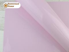 Пленка плотная глянцевая непрозрачная светло-розовая