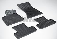 """Резиновые коврики """"Сетка"""" для Audi Q-5 (с 2008)"""