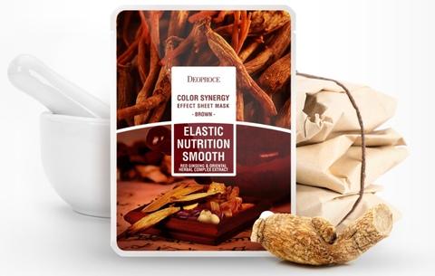 Маска с экстрактами восточных трав и корня женьшеня Deoproce Color Synergy Effect Sheet Mask Brown