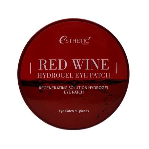 [ESTHETIC HOUSE] Гидрогел. патчи д/ глаз КРАСНОЕ ВИНО RED WINE HYDROGEL EYEPATCH