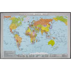 Коврик на стол Attache Политическая карта мира (380x590 мм, цветной, ПВХ)