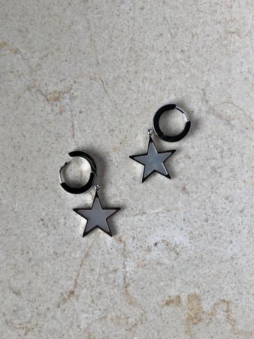 Серьги Телата, серебряный цвет