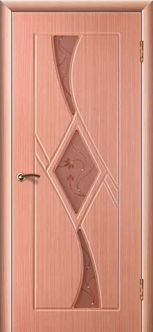 Дверь Кристалл-3 (лён, остекленная ПВХ), фабрика Зодчий