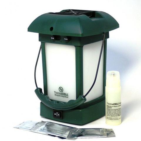 Лампа противомоскитная ThermaCell Outdoor Lantern, комплектация картриджами.