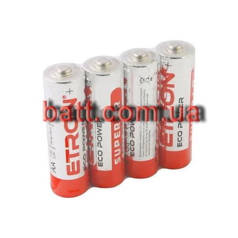 Батарейки Etron Eco Power Alkaline LR6, AA (4/40)