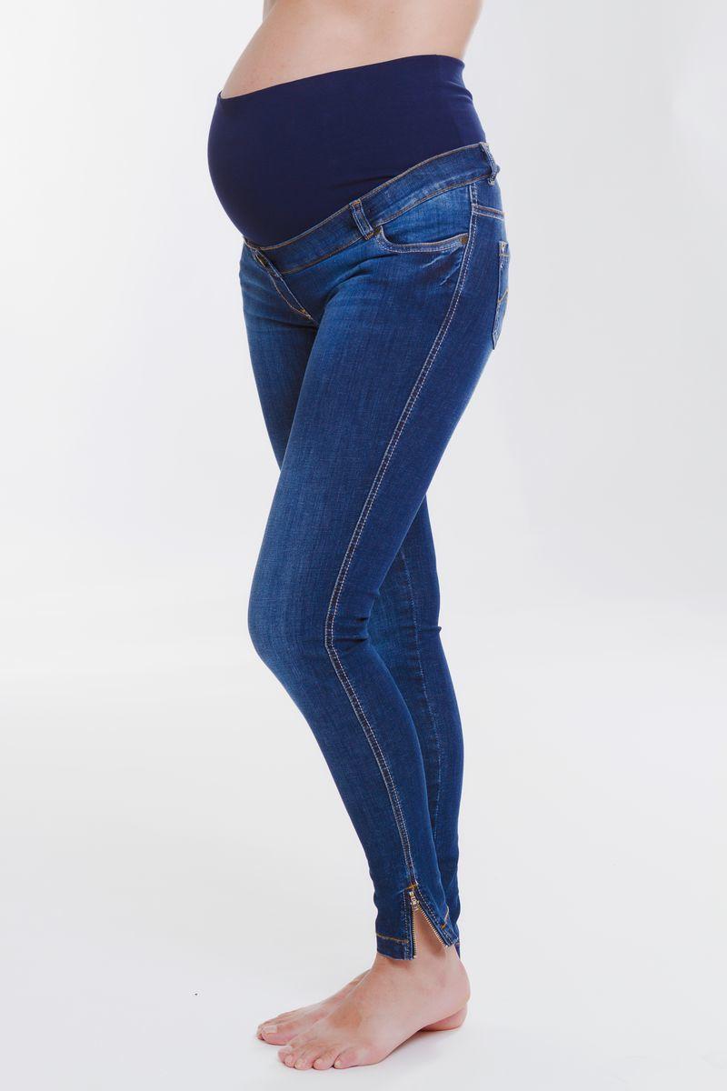 Фото джинсы для беременных MAMA`S FANTASY, зауженные, средняя посадка, из стрейчевого денима от магазина СкороМама, синий, размеры.