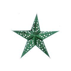 Звезда бумажная 45 см голографическая зеленая