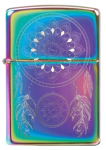 Зажигалка Zippo Dream Catcher с покрытием Multi Color, латунь/сталь, разноцветная, 36x12x56 мм123