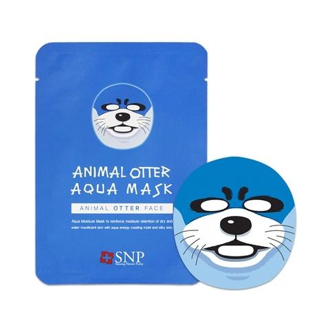 SNP Маска тканевая увлажняющая с рисунком выдры для лица Animal Otter Aqua Mask 1 шт.