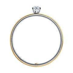 1014043-01- Помолвочное кольцо с бриллиантом из золота 585 пробы