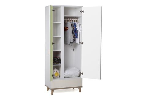 Шкаф LX 31 зеленый-принт