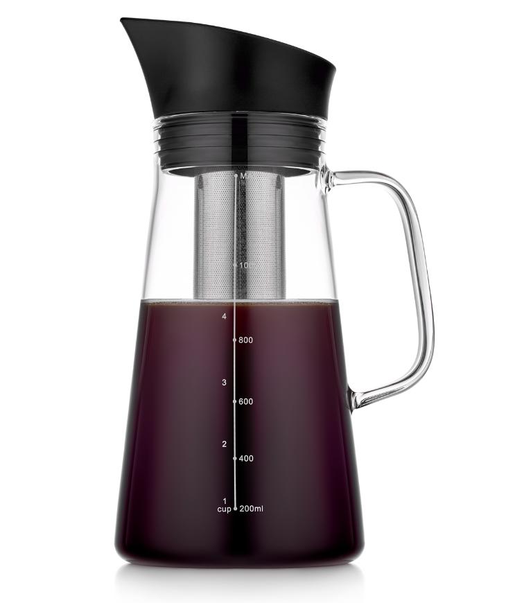 Заварочные стеклянные чайники Чайник-кофейник 1200 мл с фильтром для заваривания стеклянный 6-002-1200.PNG