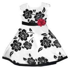 JONA MICHELLE Платье атласное с бархатными цветами ДП34