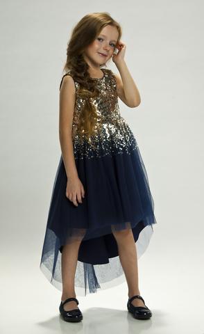Волшебное синее платье с пайетками (арт.TK755)