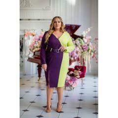Платье в двух ярких цветах 55633-violet