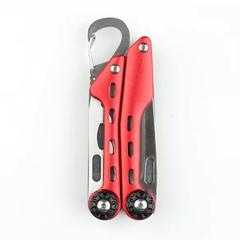 Мультитул Stinger, красный, 10 инструментов, нейлоновый чехол