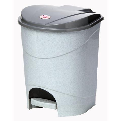 Ведро для мусора с педалью М-пластика 11 л пластик серое (26х26х33 см)