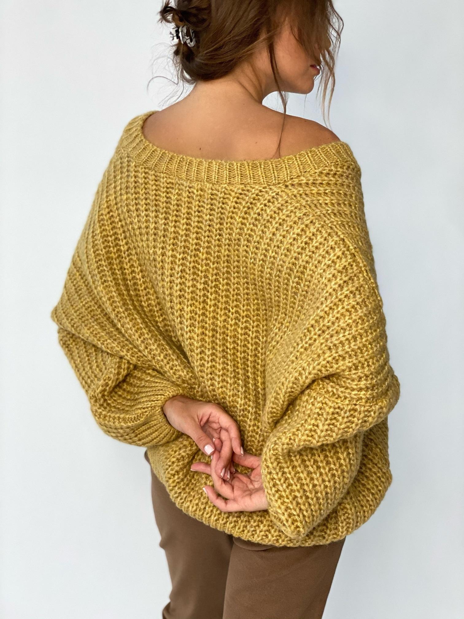 Пуловер, Pola, Twiggy (горчица)