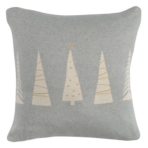 Чехол на подушку вязаный с новогодним рисунком Christmas tree из коллекции New Year Essential, 45х45 см