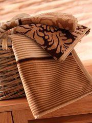 Полотенце велюро-махровое