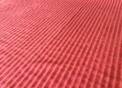Велюр полоса красный