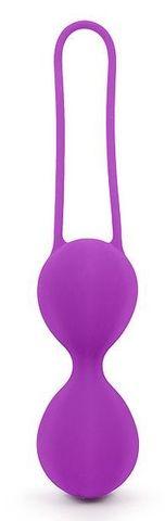Фиолетовые вагинальные шарики на силиконовом шнурке