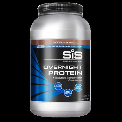 SiS Overnight Protein Powder, Напиток протеиновый в порошке, ночной, вкус Cookies and Cream, 1 кг