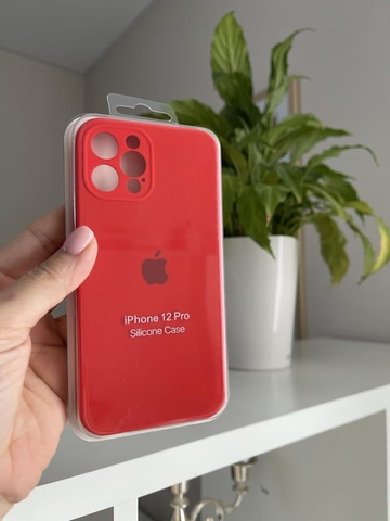 iPhone 12 Pro Silicone Case Full Camera /red/