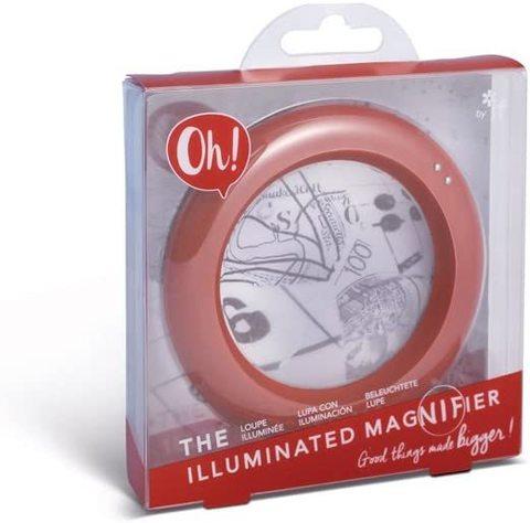 Böyüdücü şüşə Oh! The İlluminated Magnifier - Radiant Red