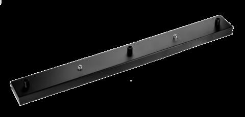 Чашка потолочная прямоугольная на 3 вывода (черный)
